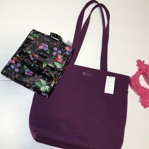Vera Bradley Iconic Tote and Lunch Bag Set